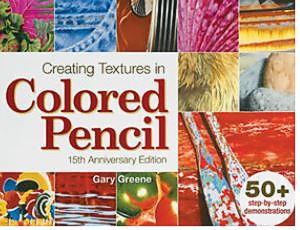 books creating textures in coloured pencil 15th anniversary greene.JPG