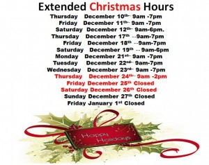 christmas hours new